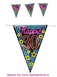 Vlaggenlijn Neon Happy '25'