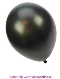 "Effen Ballon 14"" metallic zwart"