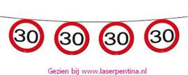 Vlaggenlijn Traffic Sign  -30-