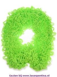 Sjaal loping met Franjes fluor groen