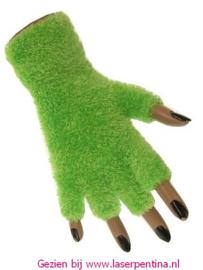 Vingerloze Handschoenen Softy fluor groen