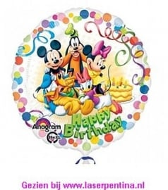 Folieballon Happy B. Mickey