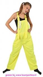 Tuinbroek fluo geel Kids