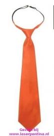 Stropdas effen oranje