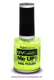 UV neon Nagellak glitter  groen