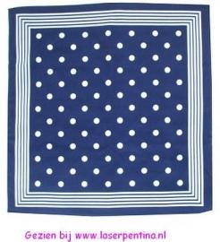 Zakdoek blauw met Stippen