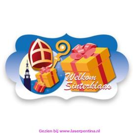 Feestbord 'Welkom Sinterklaas'