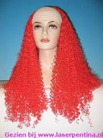 Clownschedel met rood Haar