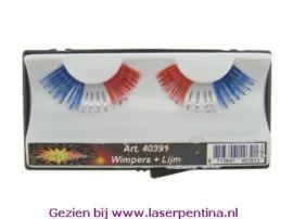 Wimpers Lametta blauw/zilver/rood