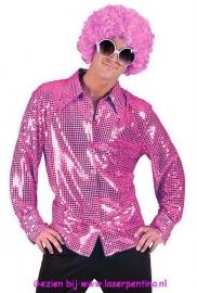 Disco glitter Shirt fuchsia