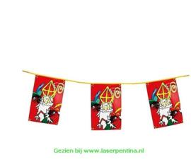 Vlaggenlijn Sint Cartoon