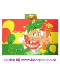 Wanddeco Carnavalsvlag 3D met Prins