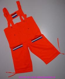 Tuinbroek 3/4 oranje