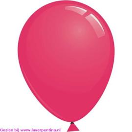 """Effen kleur Ballon decoratie fuchsia 12""""[50]"""