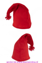 Kaboutermuts met Flosje rood