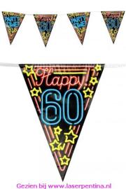 Vlaggenlijn Neon Happy '60'