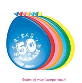 Cijfer opdruk Ballon '50' SARAH
