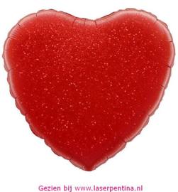 Folie Ballon Hart rood Valentijn