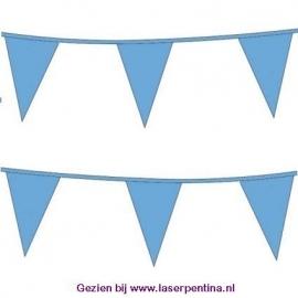 Vlaggenlijn effen lichtblauw