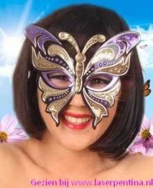 Oogmasker  Vlinder pailletten