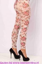 Legging kant + bloemen