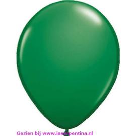 "Effen kleur metallic Ballon donker groen 12"" [50]"