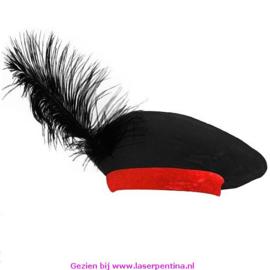 Piet zwarte Baret rode Rand
