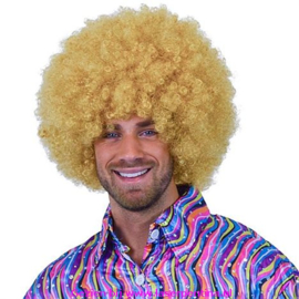 Afro super Pruik blond