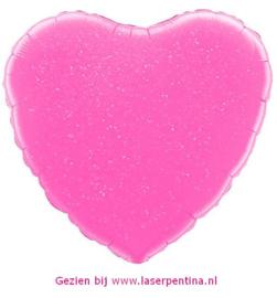 Folie Ballon Hart roze