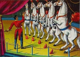 Houten Legpuzzel Circus PAARDEN 24 stukjes