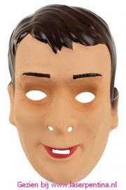 Mannenmasker donker bruin Haar