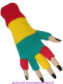 Vingerloze Handschoen rd/gl/grn