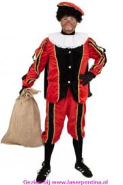 Piet plushe zwart/rood