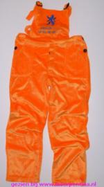 Tuinbroek oranje pluche