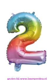 "Folie Ballon Cijfer ""2"""