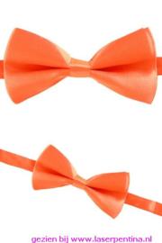 Vlinderstrik effen oranje