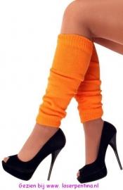 Beenwarmers effen oranje