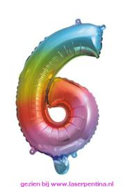 "Folie Ballon Cijfer ""6"""