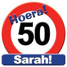 Verkeersbord 'Sarah'
