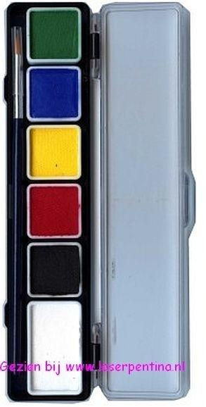 Aqua Paintpalet 6 reguliere Kleuren