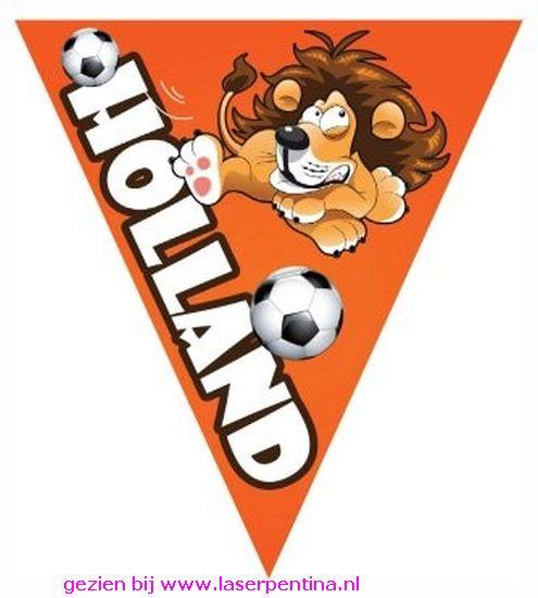 Vlaggenlijn Oranje Holland Voetbal