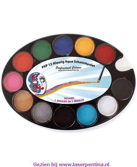 Aqua Paint Schminkpalet  12-Kleuren