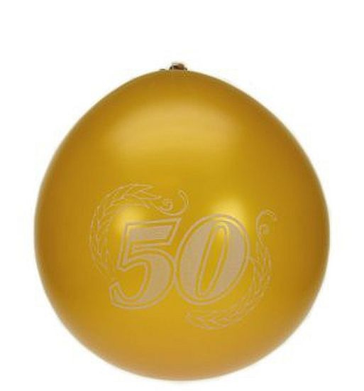 Cijfer opdruk Ballon '50'  goud