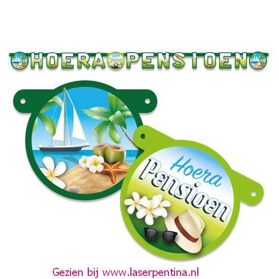 Letterslinger 'Hoera Pensioen'