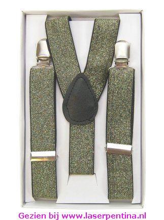 Bretel glitter goud 2,5 cm