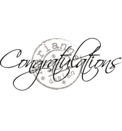 CS0918 - Congratulations-MarianneDesign clear stempel