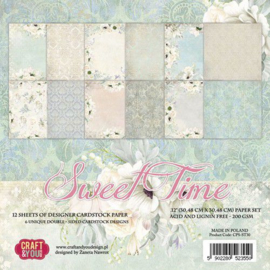 "CPS-ST30-Craft&You Sweet Time BIG Paper Set-12""x12""- 12 vel"