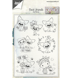 6410/0500- clear stempel-Best Friends
