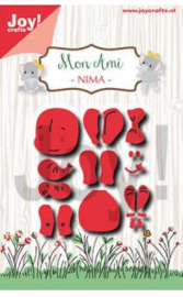 6002/1425 Snij-embosstencil - Mon Ami - olifant Nima