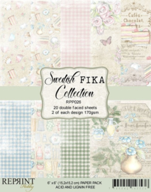 RPP026-Swedish Fika Collection- 6x6 Inch-15,2 cm x 15,2 cm- Paper Pack
